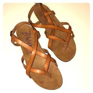 Tan Blowfish gladiator sandal
